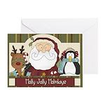 Holly Jolly Christmas Card Greeting Cards