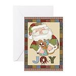 Santa Joy Christmas Greeting Card