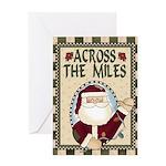 Across the Miles Christmas Greeting Card