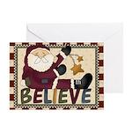 Believe Santa Christmas Card Greeting Cards
