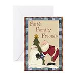 Faith Family Friends Christmas Greeting Card