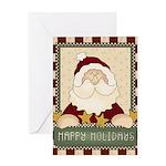 Happy Holidays Santa Christmas Greeting Card