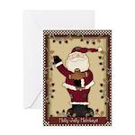 Holly Jolly Santa Card Greeting Cards