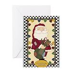 Christmas Wishes Santa Greeting Card