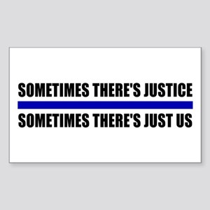 Justice Blue Line Rectangle Sticker