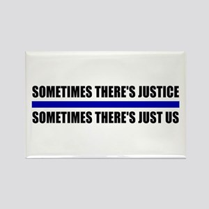 Justice Blue Line Rectangle Magnet