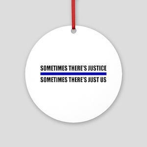 Justice Blue Line Ornament (Round)
