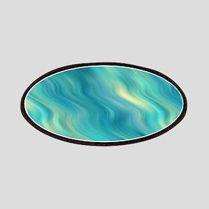 Blue Wavy Texture Patch