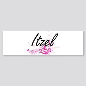 Itzel Artistic Name Design with Flo Bumper Sticker