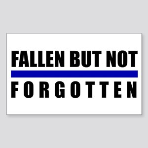 Fallen Blue Line Rectangle Sticker