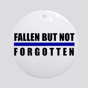 Fallen Blue Line Ornament (Round)