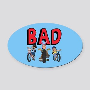 Bob's Burgers Speak Easy Oval Car Magnet