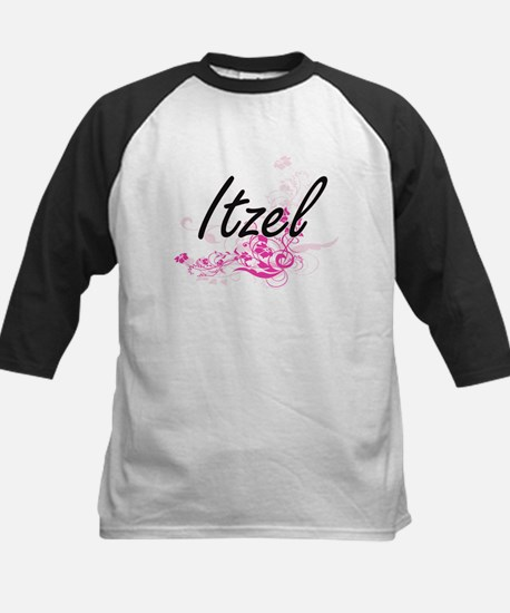 Itzel Artistic Name Design with Fl Baseball Jersey