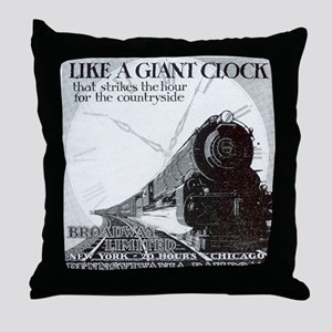 1929 Broadway Limited Throw Pillow