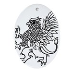Griffin Oval Ornament