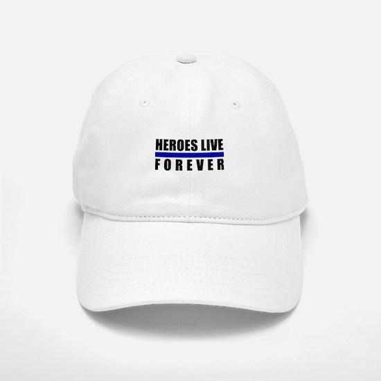Heroes Blue Line Baseball Baseball Cap