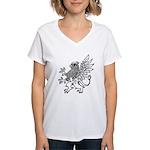 Griffin Women's V-Neck T-Shirt