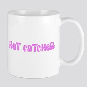 Rat Catcher Pink Flower Design Mugs