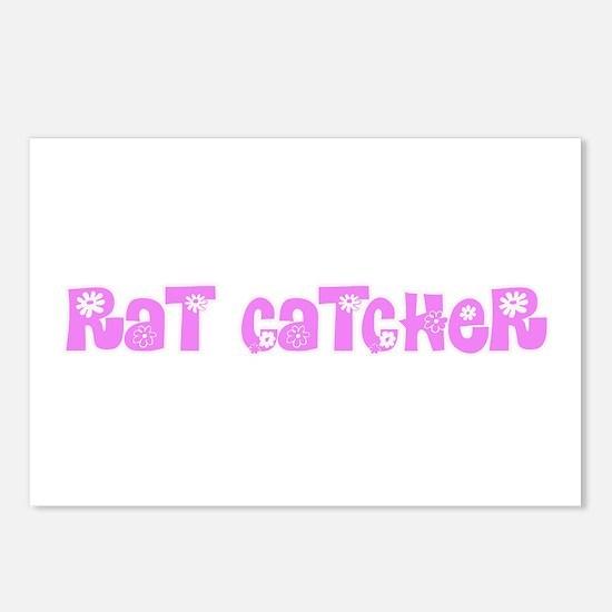 Rat Catcher Pink Flower D Postcards (Package of 8)