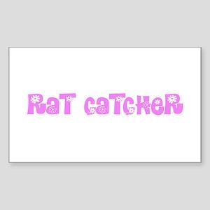 Rat Catcher Pink Flower Design Sticker