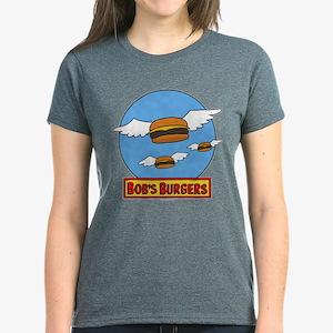 Bob's Burgers Flying Burgers Women's Dark T-Shirt
