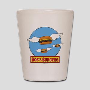 Bob's Burgers Flying Burgers Shot Glass