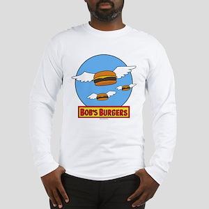 Bob's Burgers Flying Burgers Long Sleeve T-Shirt
