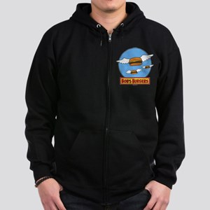 Bob's Burgers Flying Burgers Zip Hoodie (dark)