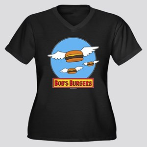 Bob's Burger Women's Plus Size V-Neck Dark T-Shirt