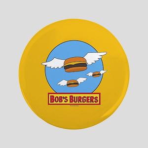 Bob's Burgers Flying Burgers Full Bleed Button