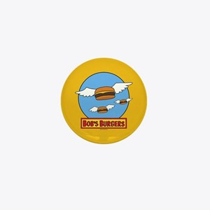 Bob's Burgers Flying Burgers Full Blee Mini Button
