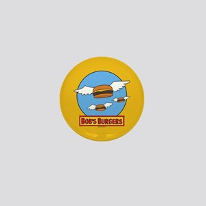 Bob's Burgers Flying Burgers Full Blee Mini Button