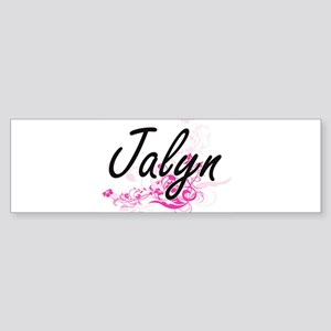 Jalyn Artistic Name Design with Flo Bumper Sticker