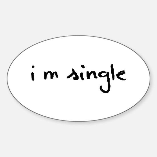 I'm Single Decal