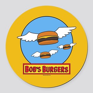 Bob's Burgers Flying Burgers Round Car Magnet