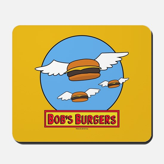 Bob's Burgers Flying Burgers Mousepad
