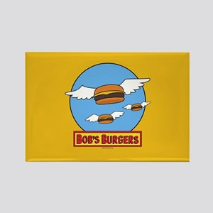 Bob's Burgers Flying Burgers Rectangle Magnet