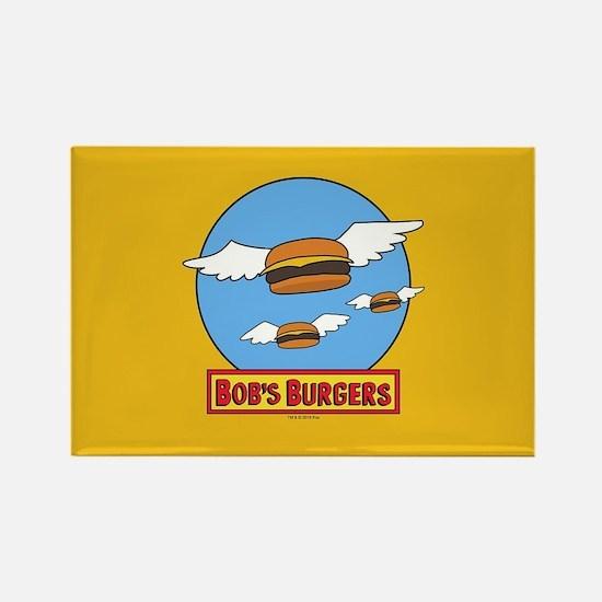 Bob's Burgers Flying Burgers Rectangle Magnet