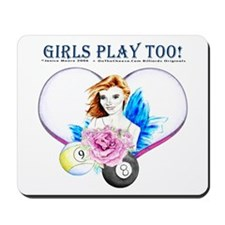 Girls Play Pool Too Mousepad