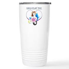 Girls Play Pool Too Stainless Steel Travel Mug