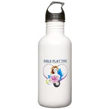 Girls Play Pool Too Stainless Water Bottle 1.0L