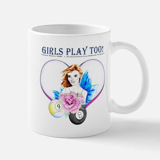 Girls Play Pool Too Mug
