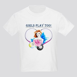 Girls Play Pool Too Kids Light T-Shirt