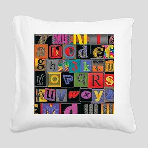 ABCDEFG Square Canvas Pillow
