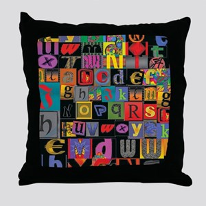 ABCDEFG Throw Pillow