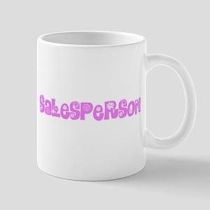 Salesperson Pink Flower Design Mugs