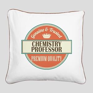 chemistry professor vintage l Square Canvas Pillow
