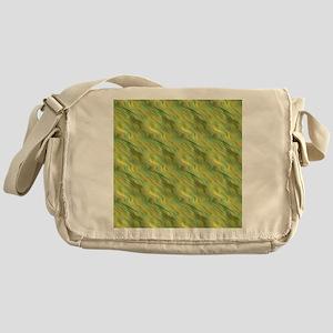 Yellow Green Wavy Texture Messenger Bag