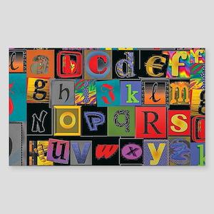 ABCDEFG Sticker
