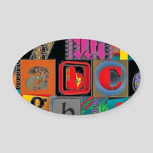 ABCDEFG Oval Car Magnet